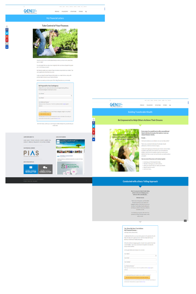 financial email campaign using copywriting