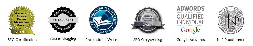 List of Jonathan's copywriting certifications